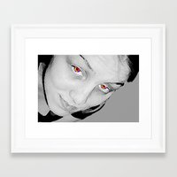 no face Framed Art Prints featuring Face by Whimsy Notions Designs