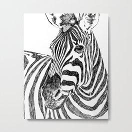 Zebra #sketch #wildlife Metal Print
