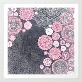 FESTIVAL FLOW - PINK GREY Kunstdrucke
