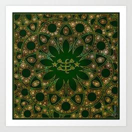 Emerald Ringstone symbol Art Print
