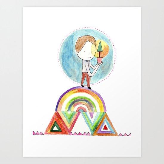 Future boy Art Print