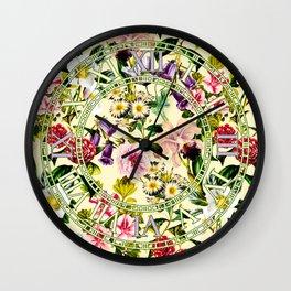 SUMMER BOTANICAL X Wall Clock