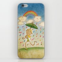 rain iPhone & iPod Skins featuring Rain by José Luis Guerrero