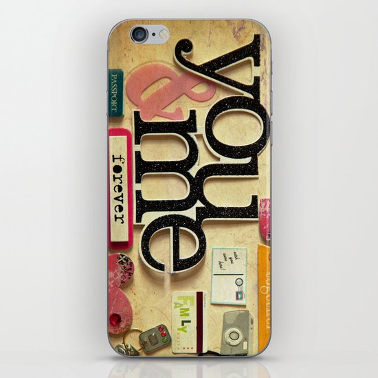 Collage Love - You & Me iPhone Skin