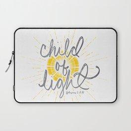 "EPHESIANS 5:8-10 ""CHILD OF LIGHT"" Laptop Sleeve"