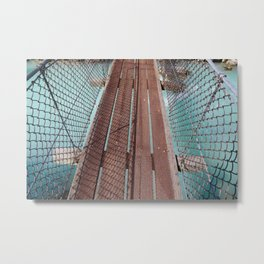 cheakamus river suspension bridge, 2017 Metal Print