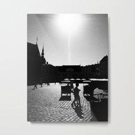 Tallinn Old Town Hall Square Metal Print