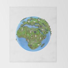 Data Earth Throw Blanket