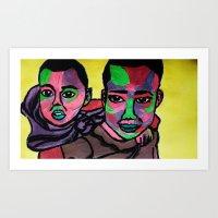 Safini & Sofia Art Print