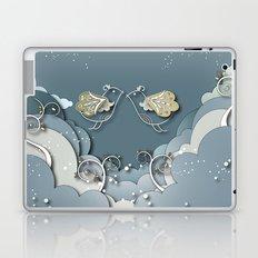 Blue kiss in spring Laptop & iPad Skin