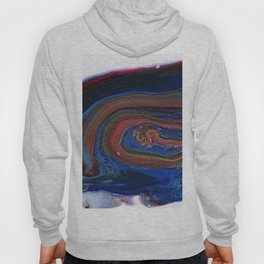 Fluid Acrylic VIII - Negative space fluid pour painting Hoody
