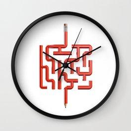 The Maze Writer Wall Clock