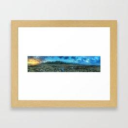 La Sirenas Sunset view at LowTide Framed Art Print