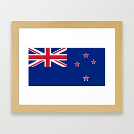 National flag of New Zealand - Authentic version to scale and color Framed Art Print