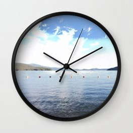 Lakeside at Priest Lake Wall Clock