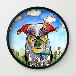 Ziggy the Rottweiler Mix Wall Clock