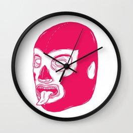 Pink Luchador Wall Clock