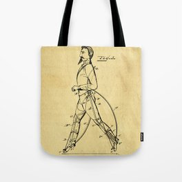 Old Patent Drawing Tote Bag