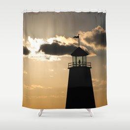 Peaceful Lighthouse Shower Curtain