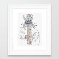 cthulu Framed Art Prints featuring Cthulu Invades Spirituality Part 1 by radixrising
