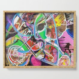 Colorful Abstract 1 Serving Tray