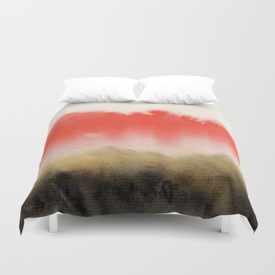 Watercolor abstract landscape 14 Duvet Cover