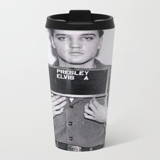 Elvis Presley Mugshot Metal Travel Mug
