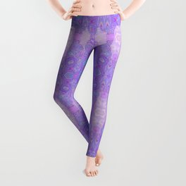 Lavender Dreams Abstract Leggings