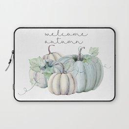 welcome autumn blue pumpkin Laptop Sleeve