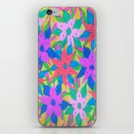 Tropical Rain Flowers iPhone Skin