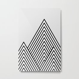 Linear Mountains Metal Print
