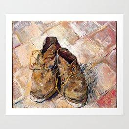 Vincent Van Gogh - Shoes (new color editing) Art Print