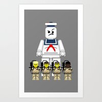 ghostbusters Art Prints featuring Ghostbusters  by AWOwens