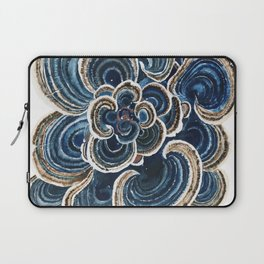 Blue Trametes Mushroom Laptop Sleeve