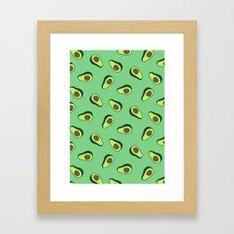 Green Vibrant Colorful Avocado Print Framed Art Print