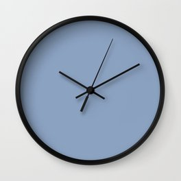 Red Pebble ~ Stone Blue Wall Clock