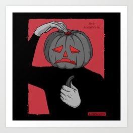 Pumpkin guy Art Print