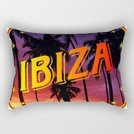 Ibiza, summer sunset, circle Rectangular Pillow