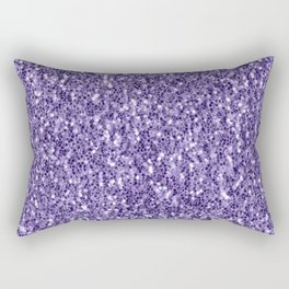 Ultra violet purple glitter sparkles Rectangular Pillow