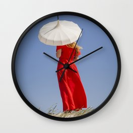 Lady in Red II Wall Clock