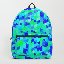 Blue Triangles Backpack