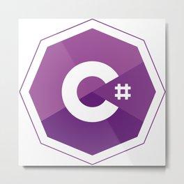 C# logo for csharp developers visual studio Metal Print