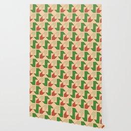 Clover&Nessie Lime/Orange Wallpaper