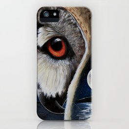 Eagle Owl - The Watcher - by LiliFlore iPhone Case