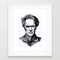 clint eastwood Framed Art Prints featuring Clint Eastwood by Oriane Mlr