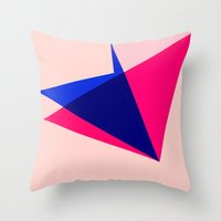 origami Throw Pillows featuring Origami by TheseRmyDesigns