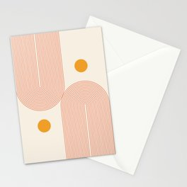 Abstraction_SUN_DOUBLE_LINE_POP_ART_Minimalism_001C Stationery Cards