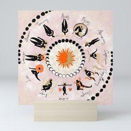 Zodiac Wheel Mini Art Print