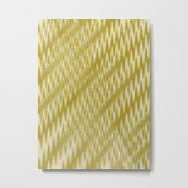 Golden Wavelength Fuzzy Caramel Spikes Metal Print