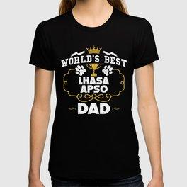 World's Best Lhasa Apso Dad T-shirt